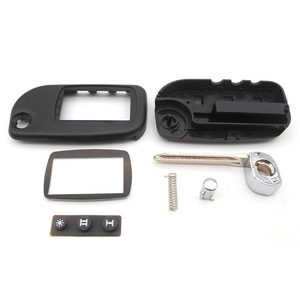New case for Starline A9 A8 A6 uncut blade fob case cover A9 FOB alarm switchblade key + A9 A6 A8 Glass free shipping