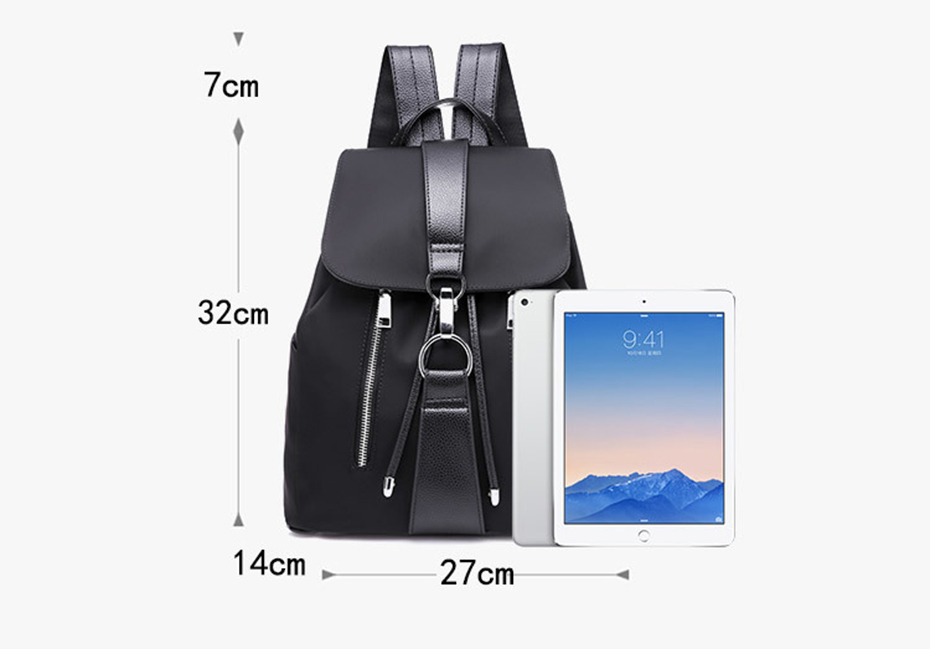 HTB1LzioKhGYBuNjy0Fnq6x5lpXaQ - Women Backpack School Bags For Teenager Girls Nylon Zipper Lock Design Black Femme Mochila Female Backpack Fashion Sac A Dos