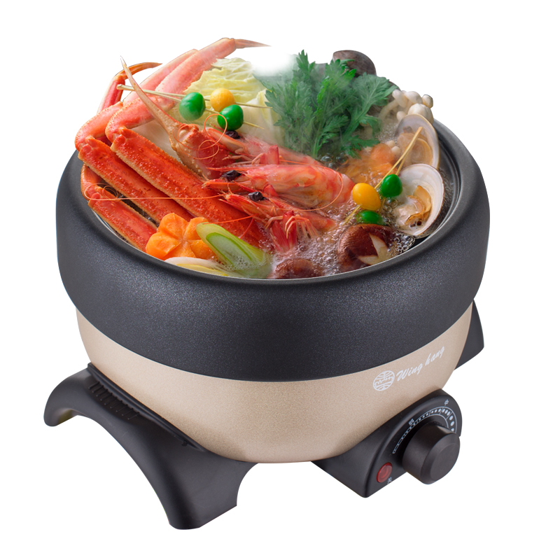 WUXEY 1L Mini Electric Food Steamer Split Hot Pot Non-stick Pan Household Electric Multifunctional Wok Red/pink Steamer Cooker homeleader 7 in 1 multi use pressure cooker stainless instant pressure led pot digital electric multicooker slow rice soup fogao