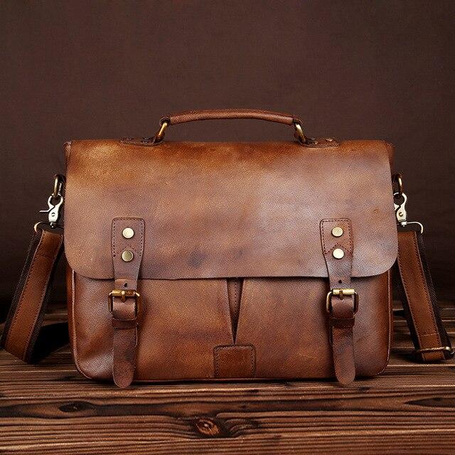 c853d62648b Hot selling briefcase genuine leather bag for laptop function men s  briefcases business handbag messenger shoulder bags