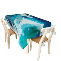 New Qualified 2017 Hot Sale Rectangular Blue Ocean Stlye Tablecloth Polyester Table Cover Cloth Tablecloths Beach