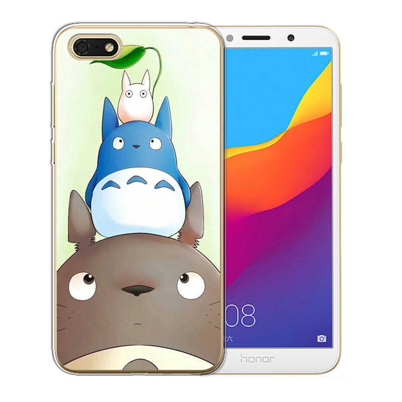 Huawei onur için 6A 6X7 7X 7C 7A Pro 8 Lite 8X9 10 telefon kılıfı kapak sevimli totoro ruhların kaçışı Ghibli Miyazaki Anime karikatür