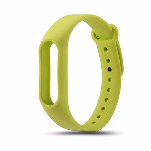 Image 5 - 1 sztuk mi band2 zapasowa opaska pasy miękki zegarek na silikonowej bransoletce dla Xiao mi mi Band 2 pasek czarny zielony pomarańczowy czerwony