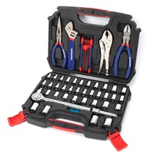hot deal buy workpro 52pc home tool sets household tool kits ratchet spanner wrench sockets pliers hex key