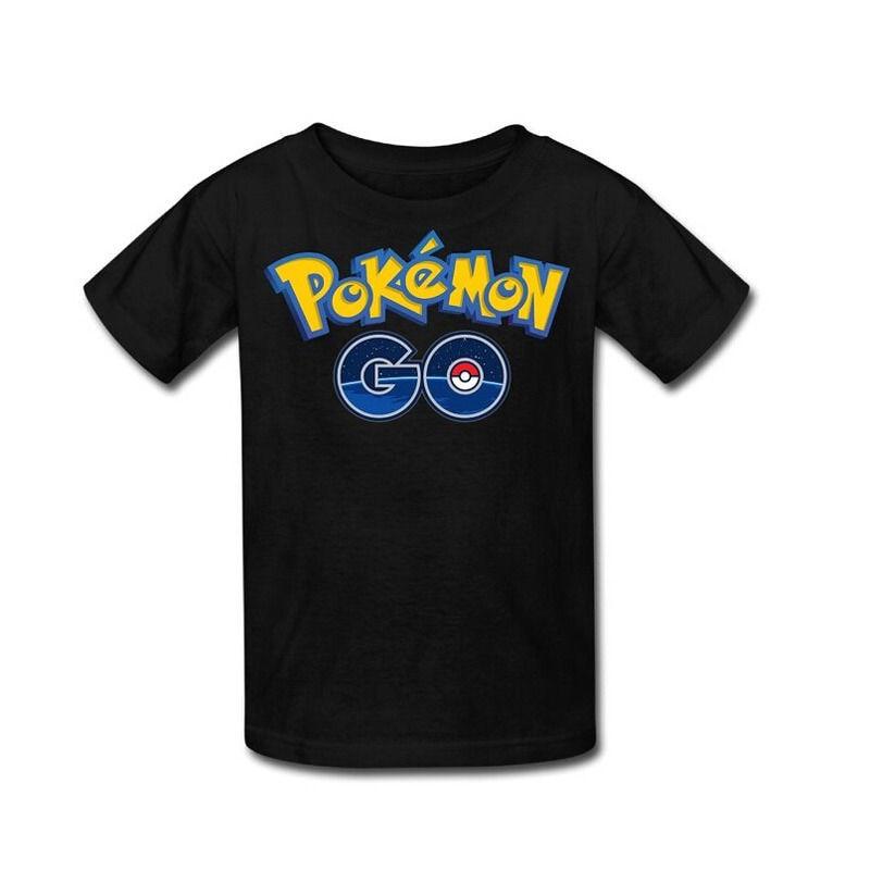 Pokemon Go Children Boy Girl Short Sleeve Tops O Neck T Shirt Blouse 2-8Y