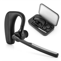 Handsfree Earphone bluetooth Headset Wireless Headphones earpiece for Driver with carrying Box