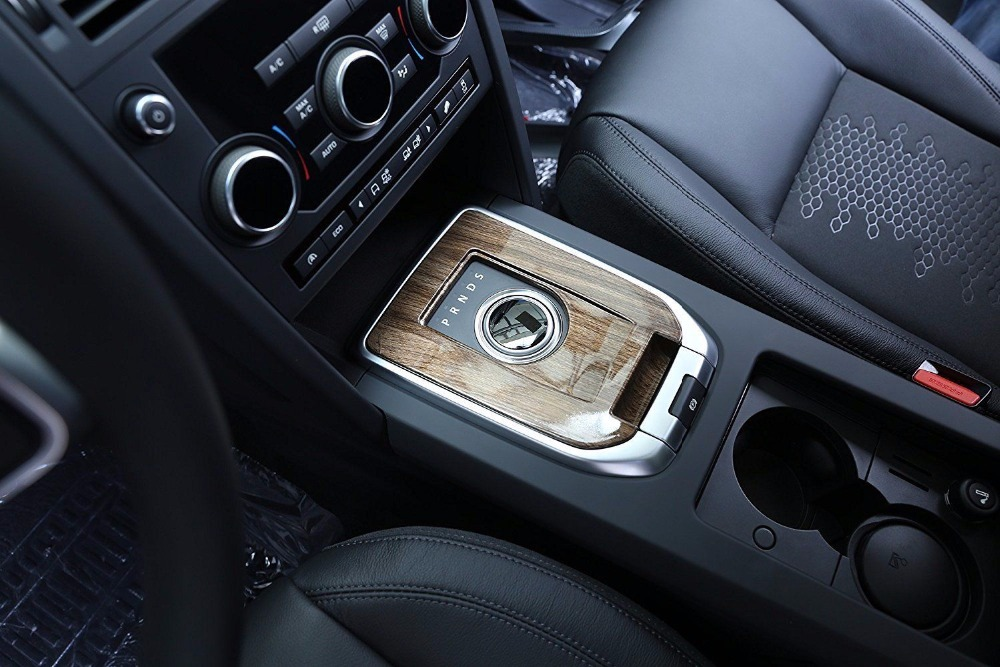 Walnut Wood Style Car Interior Gear Shift Panel Cover Trim For Land Rover Discovery Sport 2015