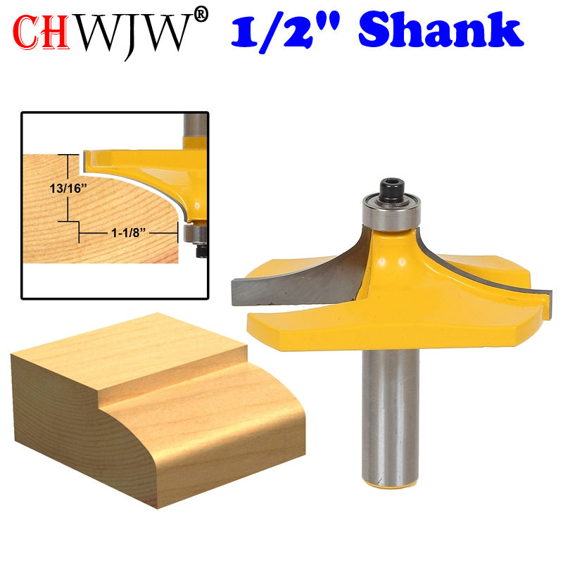 1Pc Thumbnail Table Edge Router Bit - Large 1/2 Shank Line knife Woodworking cutter Tenon Cutter for Woodworking Tools 3pcs set bit table edge thumbnail router bit set 1 2 shank