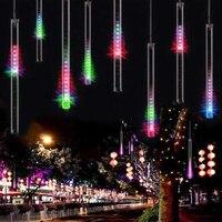 Waterproof 50cm LED Meteor Shower Rain String Lights Christmas Lights for Holiday Xmas Tree Valentine Wedding Partty Decoration