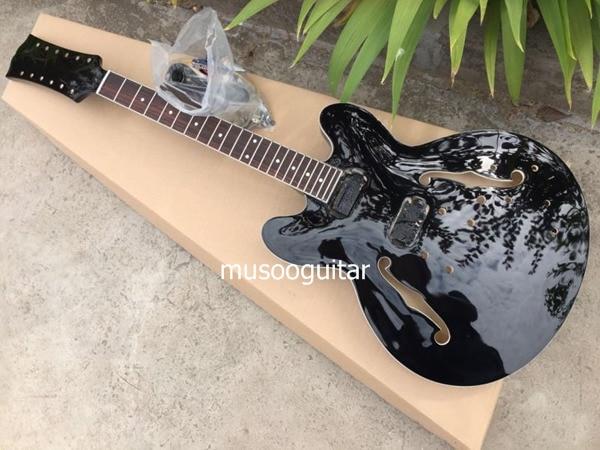 dbac015b8b45 Guitarra eléctrica de 12 cuerdas de nuevo proyecto de marca en negro con  piezas de cromo en Guitarra de Deportes y entretenimiento en AliExpress.com  ...