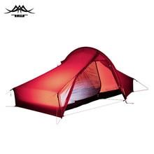 Les esprits libres TFS Enran Pro tente ultralégère 10D revêtement en silicone bothside 1 personne randonnée en plein air Camping 3/4 saison tente