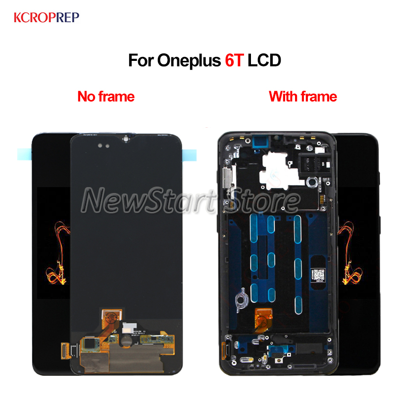 For Oneplus 6T LCD Display Screen Touch Panel with frame Digitizer Assembly Original For One plus