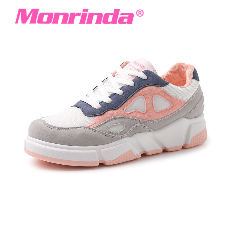 New Trend Womens Summer Sneakers leather Running Shoes Pink Shoes Woman Breathable Sports Shoes Air Cushion Running Walking Shoe