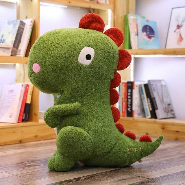 Cute Cartoon Dinosaur Stuffed Toys Plush Dinos Animal Doll toys For Children Giant size Green Dinosaur T-rex Toys for Boys