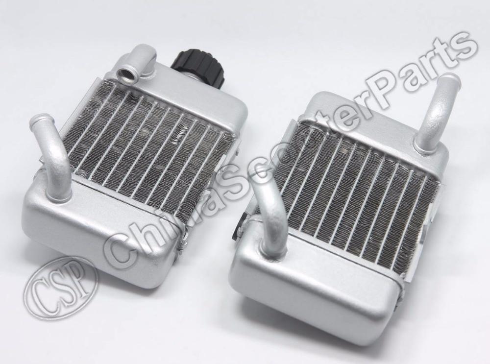 Сплав радиатор комплект для KTM 50 SX SXS мини 49cc 50cc с водяным охлаждением Мини крест Байк