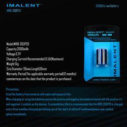 Imalent オリジナル MRB-263P20 26350 2000 2600mah BG10 ため HighPowerful バッテリーリチウムイオン充電式電池照明アクセサリー