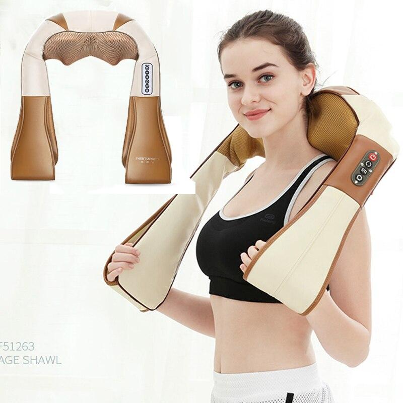 Electric Rolling Back Massage Belt Vibration Neck Massage Belt Best Gift for Parents 2018