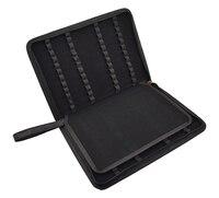 Pluma estilográfica de calidad/bolsa de bolígrafo de rodillo disponible para 48 bolígrafos-Soporte de cuero negro/bolsa