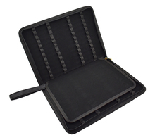 Quality Fountain Pen / Rollerball Pen Bag Pencil Case Available for 48 Pens   Black Leather Pen Holder / Pouch