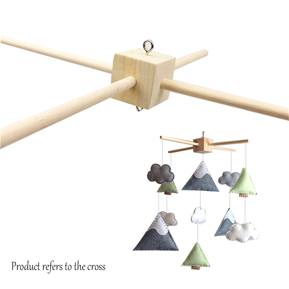 ⑤Pinjeas 10 Unidades madera mbile percha bebé decoración cuna móvil ...