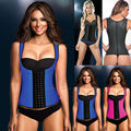 Womens Latex Body Shaper Waist Cincher Underbust Corset Workout Vest Waistcoat Slimming Waist Trainer Latex Corset Body Shaper