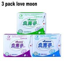 Гигиенические прокладки love moon anion гигиенических прокладок женская гигиена здравоохранение для женщин хлопка колодки гигиеническая салфетка анион-winalite