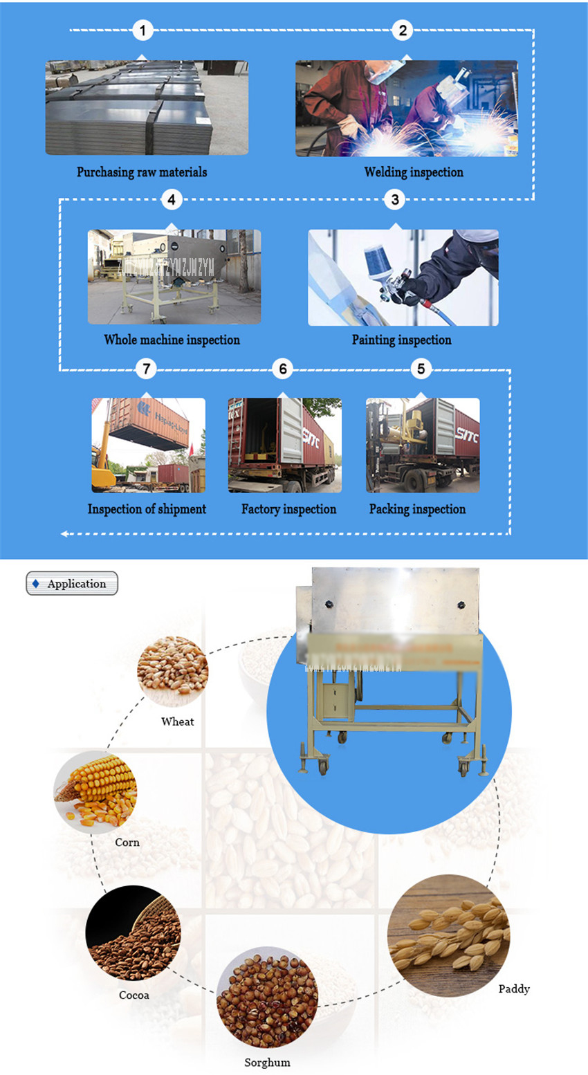5CX-5 High Efficient Magnetic Separator Grain Magnetic Separator Bean Cleaning Machine Stainless Steel Tofu Cleaning Machine380V 3