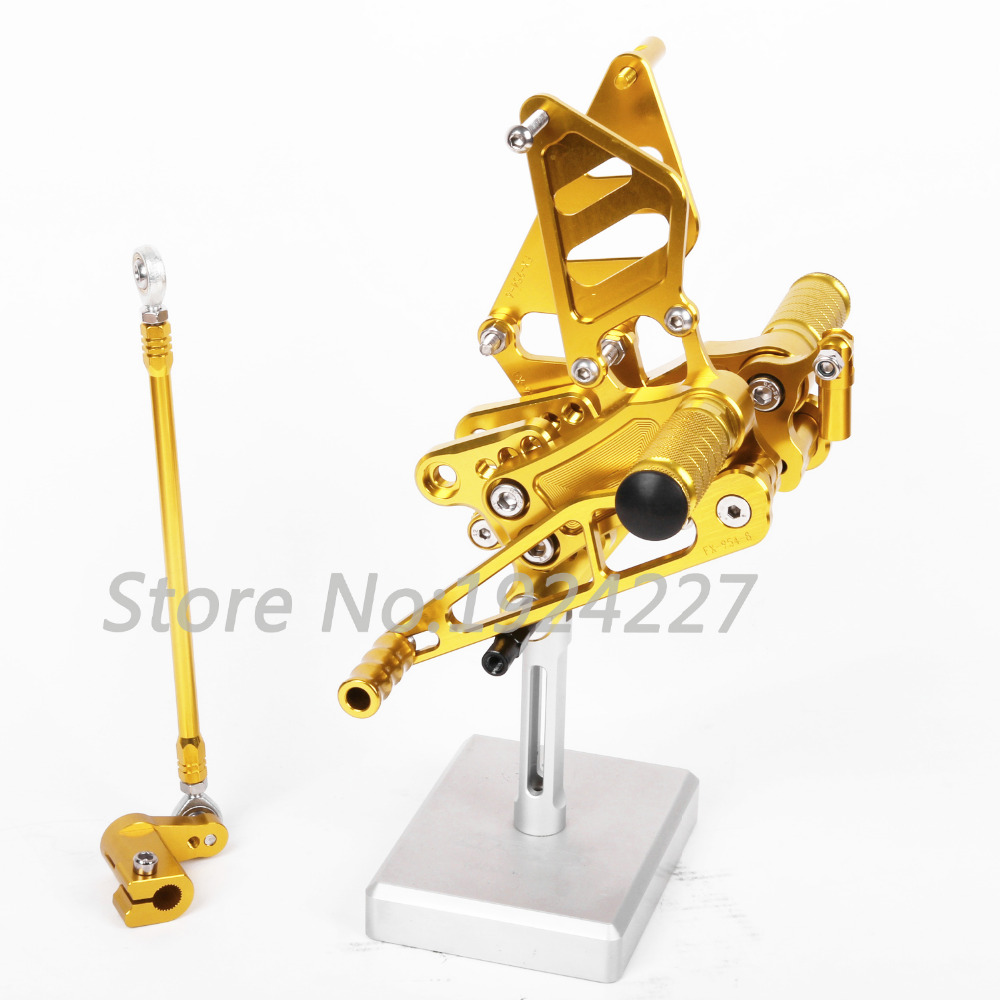 CNC Aluminum Foot Pegs Rearsets Rear Sets Brake Shift For Honda CB400SF ABS	2008-2013 Motorcycle Adjustable Hot Sale