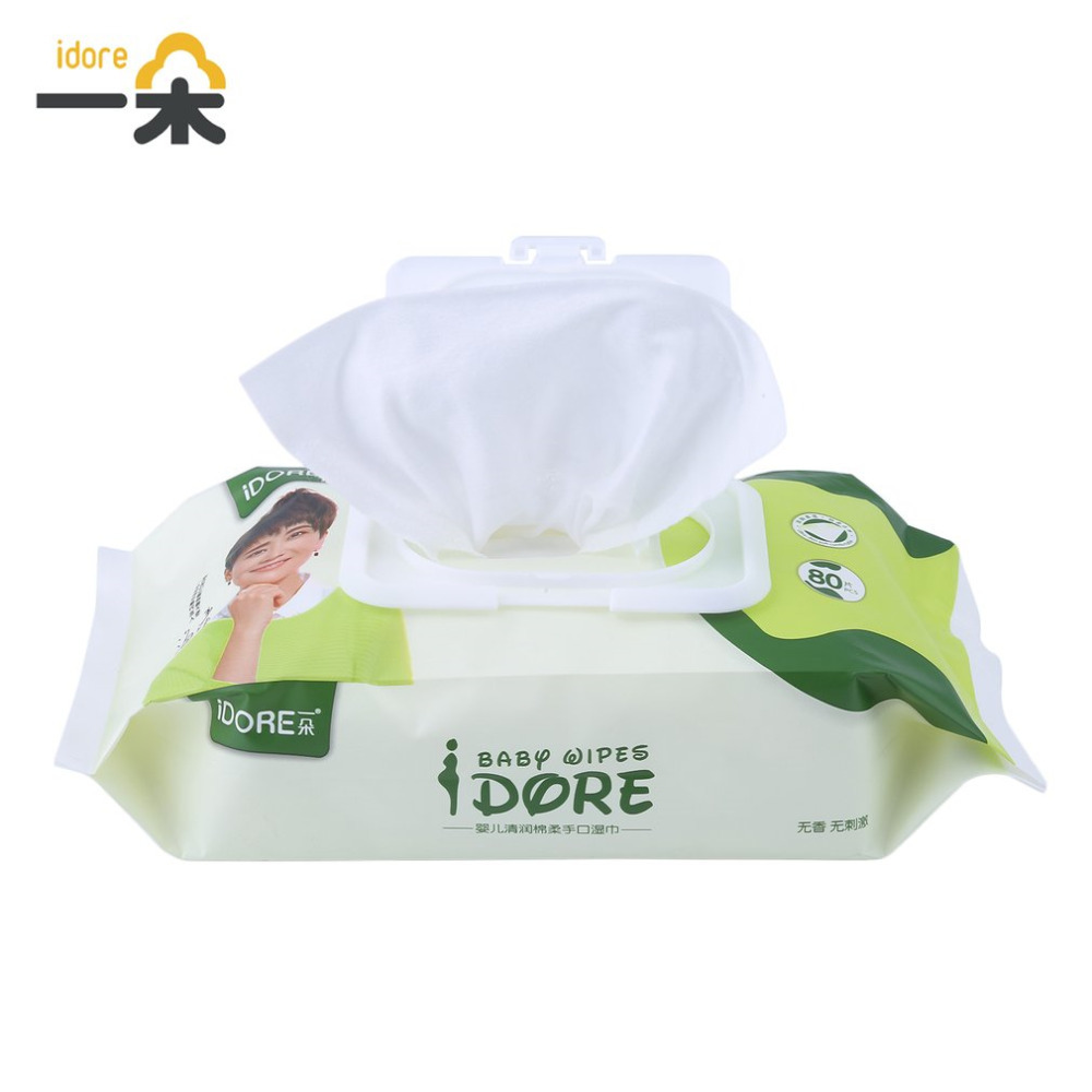Idore Portable Baby Wet Wipes Dispenser Deep Purification Moist Soft Toddlers Wet Wipes Tissue Skin Cleanser Baby Care Hot!