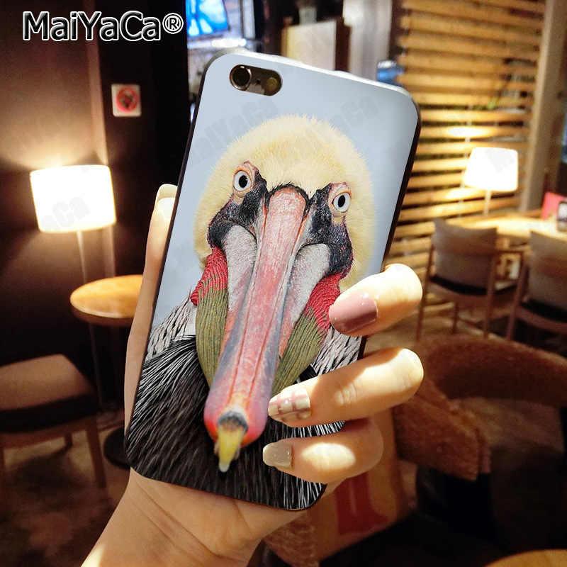 MaiYaCa Dier Vogel Pelikaan Nieuwste Mode Luxe telefoon case voor Apple iphone 11 pro 8 7 66S Plus X 5S SE XS XR XS MAX Cover