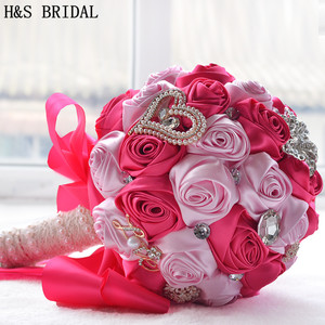 8 цветов Великолепные Свадебные цветы Свадебные букеты Искусственные для свадебного букета со стразами сверкающие с жемчугом 2020 buque de noiva