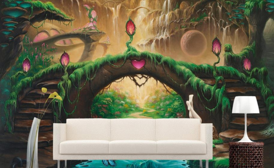 Popular fairy tale bedroom buy cheap fairy tale bedroom for Fairy tale mural