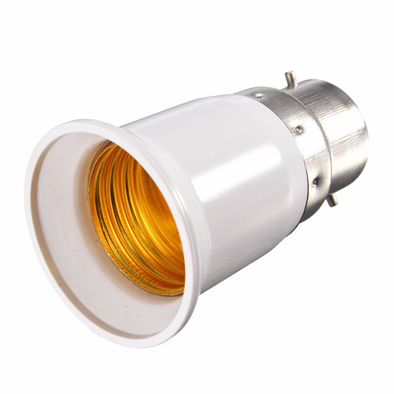 B22 to E27 Base LED Light Lamp Bulb Fireproof Holder Adapter Converter Socket Change