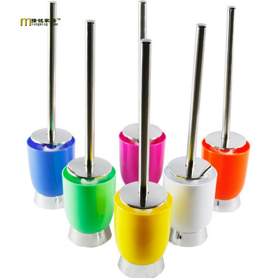 1PC Replacement Stainless Steel WC Bathroom Cleaning Toilet Brush Plastic Head Hold Bathroom Tool OK 0190