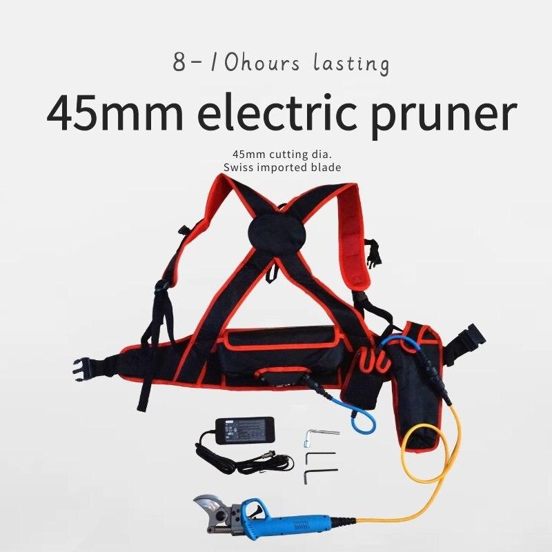 45mm Cutting Diameter 40V 6Ah Electric Pruning Shear Garden Electric Secateurs