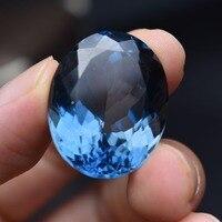 63.05ct элемента коллекции Природные Лондон Голубой Сияющий топаз камни сталкиваются Сияющий свободные драгоценных камней для Кольца Подвеск