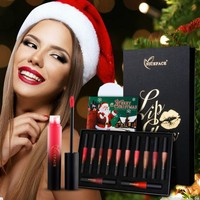 12 color Christmas gift set lip gloss Lipstick Lips Gloss Matte Lipstick Lips Waterproof Makeup Sets