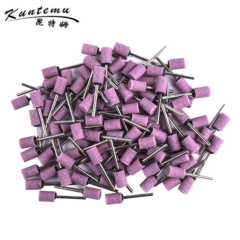10PCS Cylindrical Emery Mounted Points Grinding Head For Jade Metal Wood Grinding