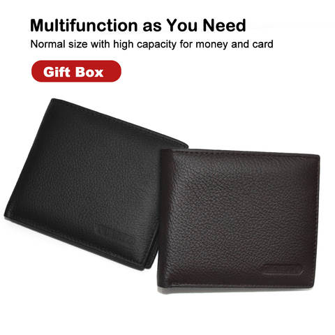 X.D.BOLO 2019 New Men Wallets Genuine Leather Purse Mens Money Bag Card Holder Wallet Man Leather Coin Pocket Wallet Male Lahore