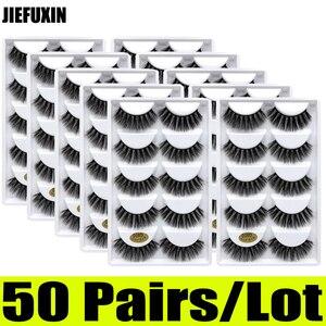 Image 5 - Pestañas de visón 3d, 50 pares, venta al por mayor, 10 cajas, pestañas de visón 3d, pestañas postizas largas naturales, extensión de ojos cilios g806 g800