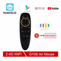 G10 S Voice Air Mouse 2.4GHz Wireless Google Microphone Remote Control IR Learning 6-axis Gyroscope for Android TV Box PC