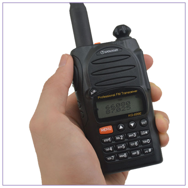 US $130 0  66 88MHz WOUXUN KG 699E Dual Display Dual Standby FM Portable  walkie talkie Two way Radio Transceiver-in Walkie Talkie from Cellphones &