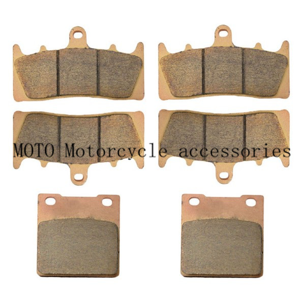 Brake Disc Pad Front & Rear Brake Pads For GSX-R1100 GSX-R 1100 GSXR1100 1993-1998 Brake Disk Pad Copper Based Sintered motorcycle front and rear brake pads for suzuki gsx 750 gsx750 f katana 1998 2006 black brake disc pad