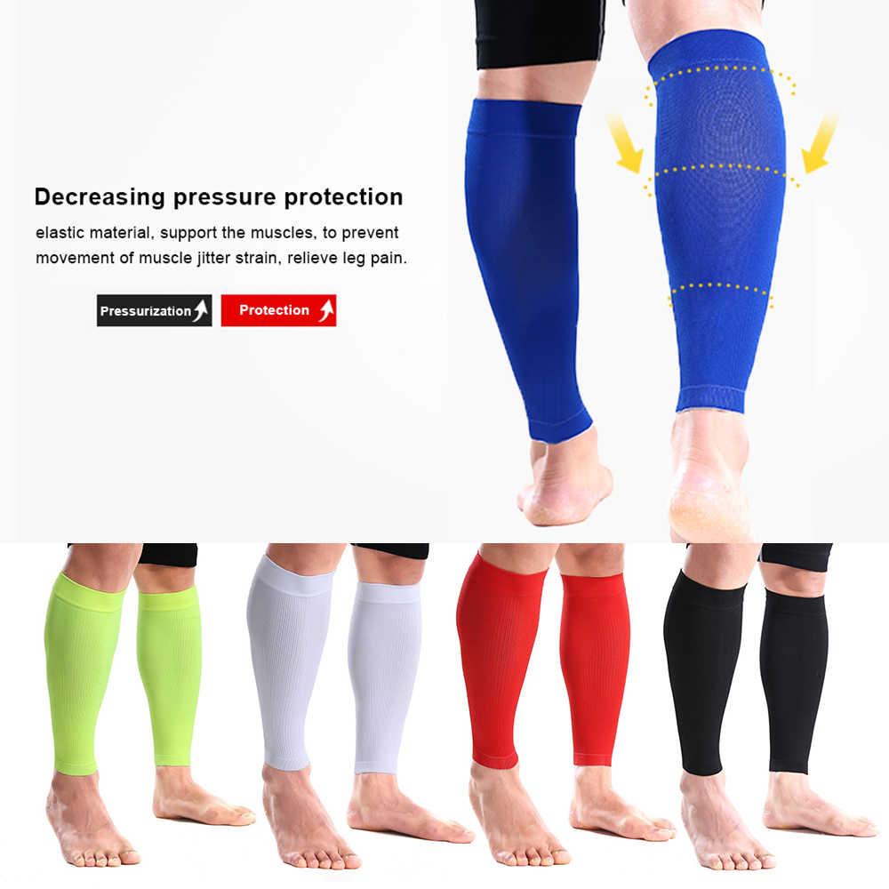 Sportowe rękawy łydki łydki rękaw kompresyjny ochraniacz na nogi bieganie piłka nożna łydka wsparcie łydki mięśni relief Wrap