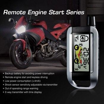 Steelmate, motocicleta, sistema de alarma de seguridad de 2 vías, Control remoto, arranque del motor, alarma de seguridad antirrobo, transmisor LCD
