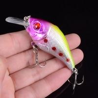 1pcs 7.5cm 10.2g Hard VIB Lures Fishing Minnow Bait Treble Hooks Sinking Crankbait Wobblers Fishing Tackle 3DEyes