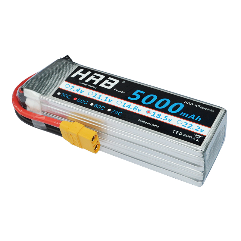 2 Units HRB FPV 450 500E 11 1V 6000mAh 50C 100C 3S RC LiPo Battery For
