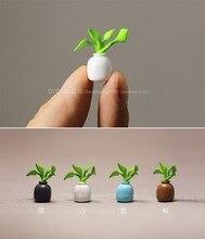 super mini pvc Simulation miniatures small potted bonsai mini version of green plants flowers ornaments