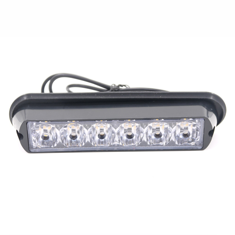 12v 24v high power grille aux led flashing light bar 6 led strobe 12v 24v high power grille aux led flashing light bar 6 led strobe fog light rear side warning markers lamp hazard flash signals in car light assembly from mozeypictures Choice Image