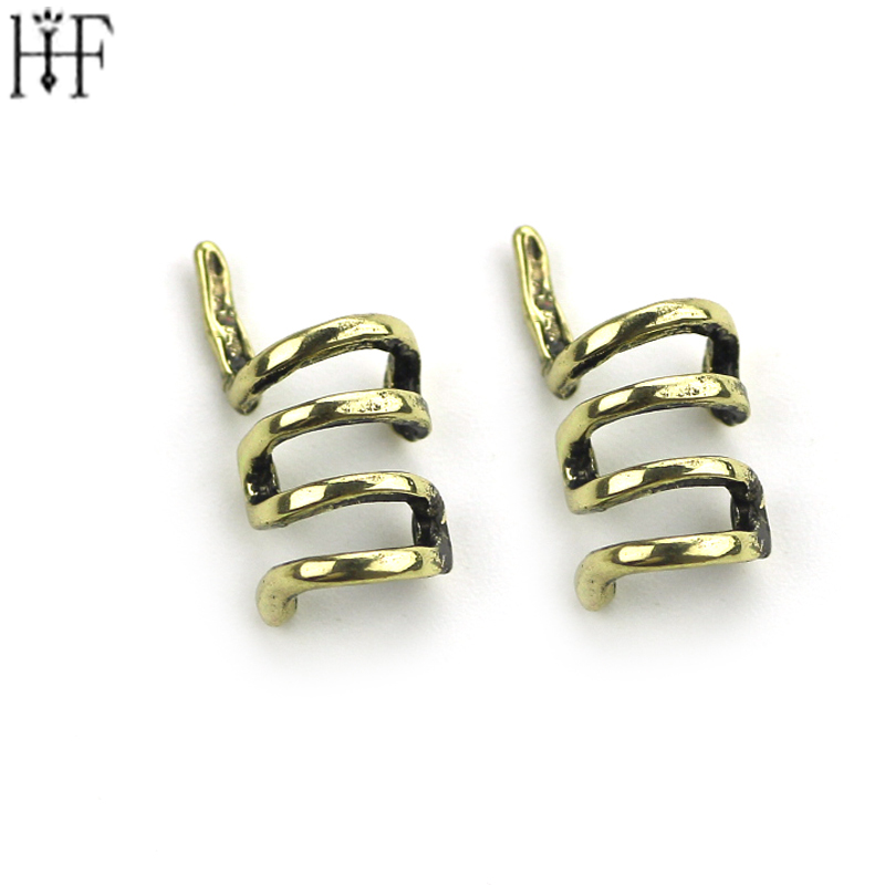 Rings Shape Earrings Clip Ear Expander Earrings HipHop Style Antique Gold Sliver Alloy Ear Earrings For Women Jewelry